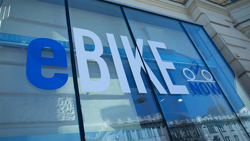 eBIKE now Shop Beklebung
